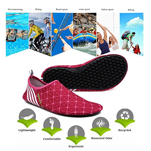 ba Beach Swim Socks Aqua rojo Kayaking Surfing and Dry Water Barefoot 220 Womens Mens Pnegro Pool Shoes tinta Quick knife Shoes for Snorkeling Red rvqOwCpr