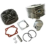 Generic 45mm Cylinder Head Body Piston Ring Set Fit For 60cc Gas Engine Motorized Bicycle Bike