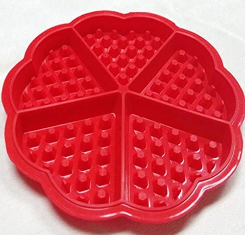 [해외]Baking Molds Silicone Waffle Baking Molds Kitchen Mini Heart Waffle Muffin Mould Tools_Red / Baking Molds Silicone Waffle Baking Molds Kitchen Mini Heart Waffle Muffin Mould Tools_Red