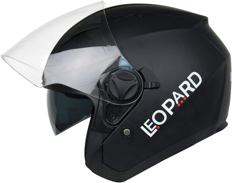 Leopard LEO-604 Offenes Gesicht Motorradhelm Jethelm Damen und Herren Rollerhelm ECE Genehmigt
