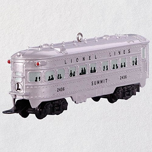 "Hallmark Keepsake Christmas Ornament 2018 Year Dated, LIONEL 2436 ""Summit"" Observation Car, Metal"