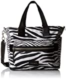 Marc Jacobs Zebra Printed Biker Babybag, Off White/Multi