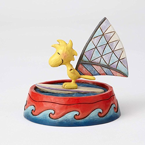Peanuts by Jim Shore Woodstock Windsurfing in Dog Bowl