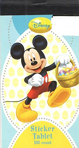 Disney Mickey Mouse Easter Sticker Tablet ~ Mickey Skipping with Basket (136 Stickers)