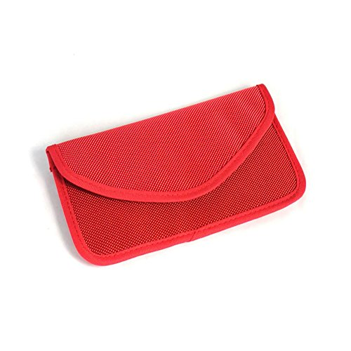 Anti-radiation Bag Pouch Radiation Interferen Shield Bag for iphone Cell Phone No Singal Shielding Bag (red)