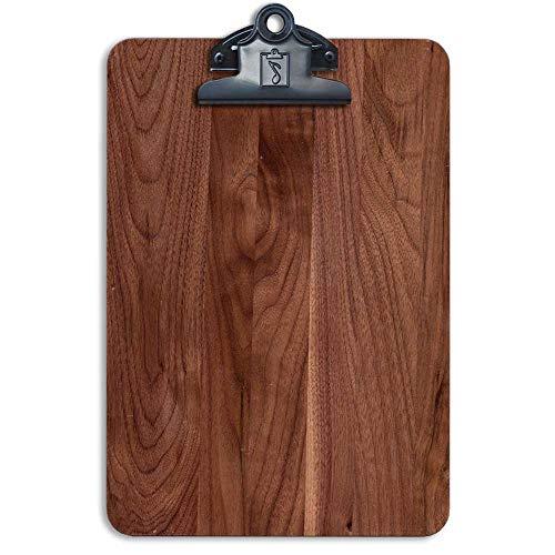 - Small Memo Pad Clipboard Solid Wood American Black Walnut 6.5