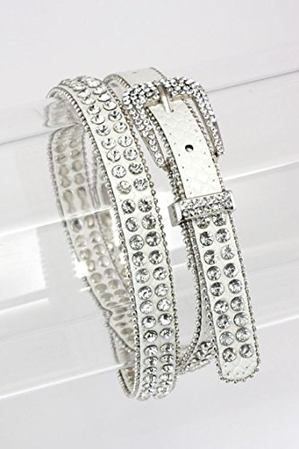 Trendy Fashion Jewelry Crystal Studded Belt By Fashion Destination | (Monet Costumes Jewelry Company)
