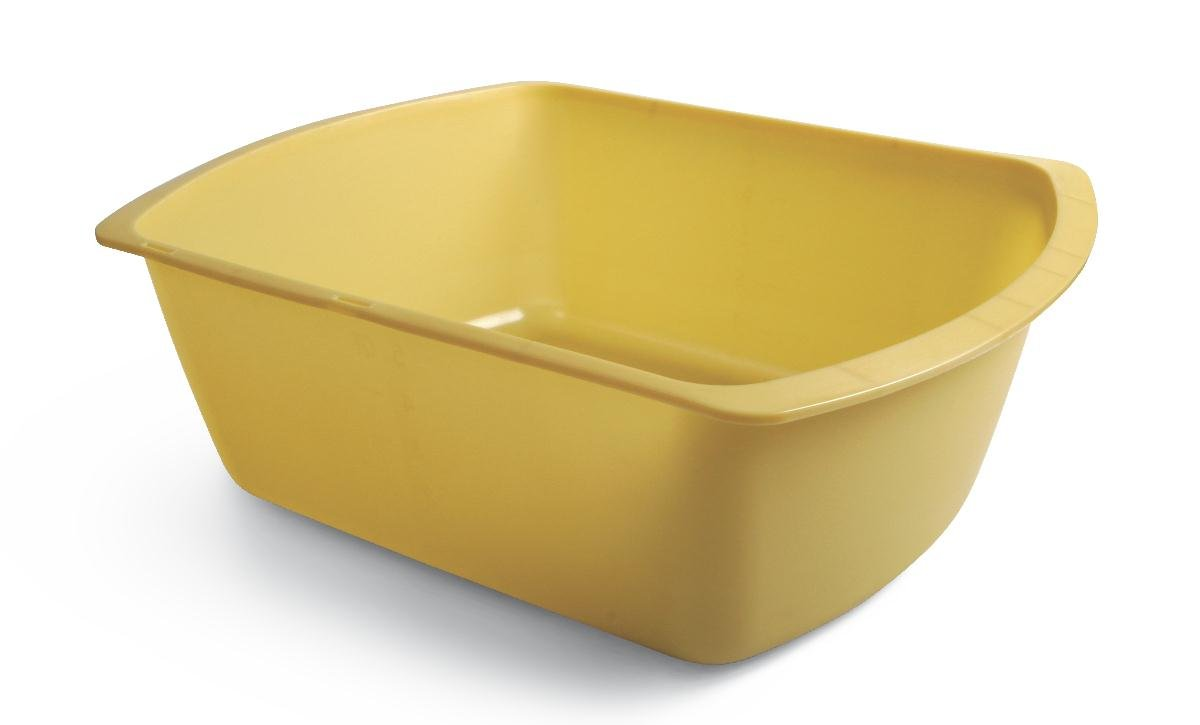 Medline DYND80306 Washbasins, Plastic, Rectangular, 4.5'' Height, 11.75'' Length, 9.25'' Width, 6 quart (Pack of 50)