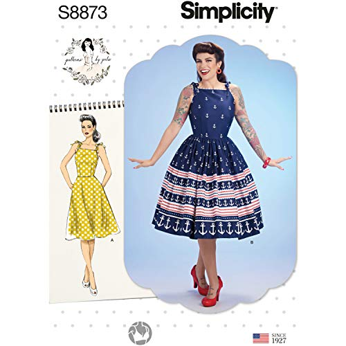 Simplicity Sewing Pattern S8873 P5 Misses' Dress by Patterns by Gertie, Size 12-20
