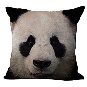 HomeTaste Cute Animals Decorative Throw Pillow Cover 18x18 Inch Couch Sofa Cushion Case