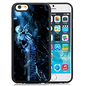 American Football Player Calvin Johnson Number-81 01 Black Abstract iPhone 6 4.7 Inch TPU Phone Case
