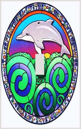Dolphin Mosaic Switchplate - Switch Plate Cover (Dolphin Switchplate)