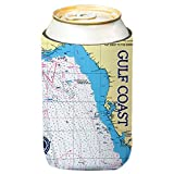 Altered Latitudes Gulf Coast Chart Standard Can Cooler (6-Pack)