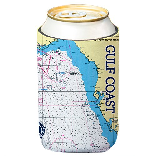 Altered Latitudes Gulf Coast Chart Standard Can Cooler (6-Pack) by Altered Latitudes