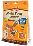 Nylabone 16 Count 3 Point Nutri Dent Complete Adult Filet Mignon Pouch Bone
