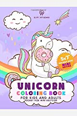 Unicorn Coloring Book for Kids and Adults: Pocket Size Mini Edition – A Beautiful Collection of Magical Unicorns Drawings for Hours of Fun! (Pocket Size Mini Coloring Books Series) Paperback