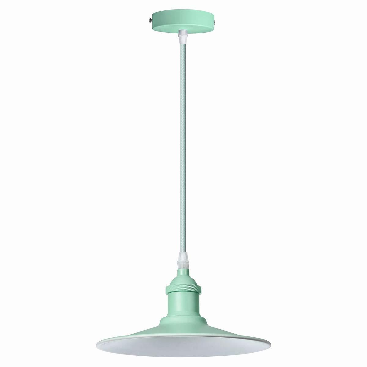 VLIKE PL08 Plafond Rose avec Abat-jour Vintage Retro Moderne Suspension Flex Plafonnier Luminaire pour Ampoule E27 rose