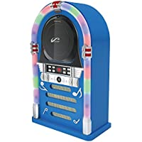 WYZworks FM Radio CD Jukebox Bluetooth Speaker System Color Changing LED Neon Lights Blue