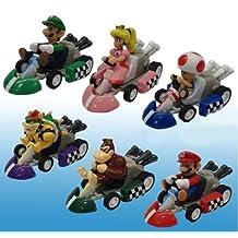 Super Mario Bros Mini Kart Pullback Figure Set Of 6