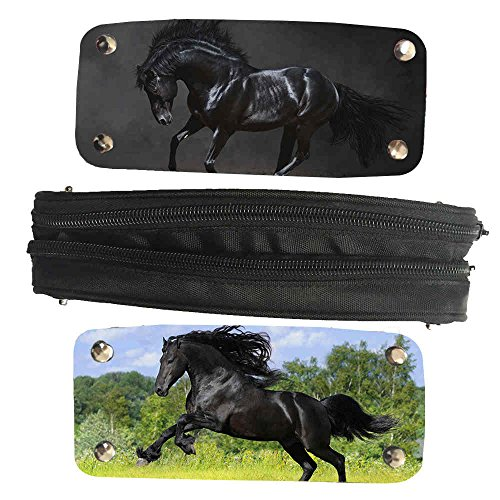 Mingdou Horse Pencil Case For Toddler Kids Boys Girls Animal Personalized Holder Tote Pouch Bags(DPHorse17) by Mingdou