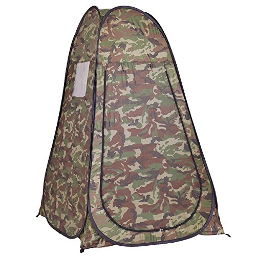 Giantex Portable Pop up Tent Dressing Changing Room Toilet Shower Camping (Camouflage Canopy)