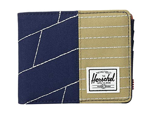 Herschel Supply Co. Unisex Roy RFID Medieval Blue/Kelp/Apricot Brandy One - Apricot Brandy