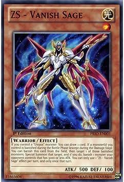 ZS U New Vanish Sage PRIO-EN001 Common Yu-Gi-Oh Card