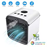 Charque Minil Air Conditioner, 4 in 1 USB Powered Portable Desktop Air Cooler