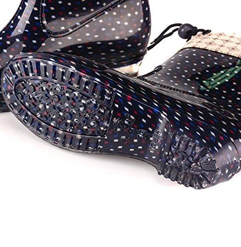Impermeables EU36 Moda Fango Nieve Señoras De Lluvia Zapatos La Festival Wellington De Mujer Lluvia Grandes Goma C Botas De Wellies Tallas para Antideslizantes 6Exvn1pvq