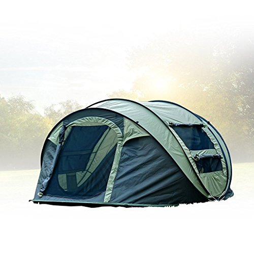 FiveJoy Instant Popup Camping Tent (1-2 Person) - NO Assembly Required - Easy Setup in Seconds - Great for Fair Weather Camping, Families, Festivals