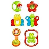 Best Vktech Toys Babies - Vktech® 6X New Plastic Hand Jingle Shaking Bell Review