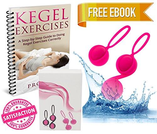 Kegel Balls for Women, Ben Wa Kegel Weights, Kegel Exercise Ball for Beginners, Doctor Recommended Ben Wa Kegel Ball, Comes w/ eBook, Kegel Exerciser Set for Tightening, Kegel Balls Set of 2