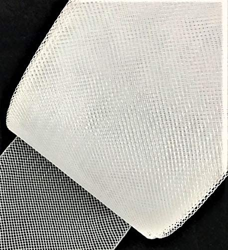 3inch Wide Stiff Polyester White Horsehair Braid Selling Per Roll 25 Yards