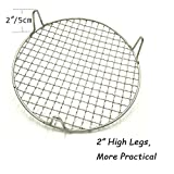 """Turbokey Round Barbecue Wire Rack with 2"""" Height"""