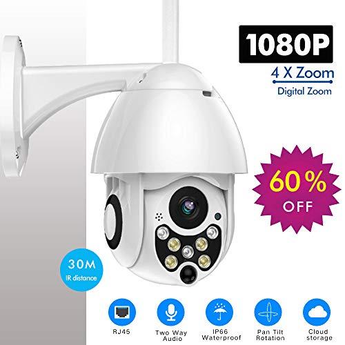 HYLTF 1080P PTZ IP Camera Outdoor Speed Dome Wireless WiFi Security Camera Pan Tilt 4X Zoom IR Network CCTV Surveillance