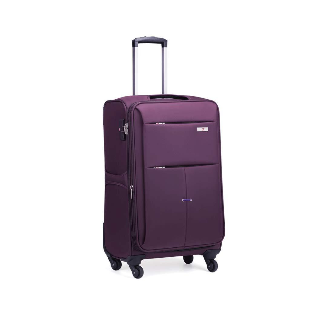 荷物用ボックス、アルミ製フレームトローリーケースユニバーサルホイールパスワードボックス搭乗用スーツケース耐磨耗性と耐引掻性パープル (Size : 46L)   B07JP5ZJKQ