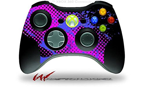 (XBOX 360 Wireless Controller Decal Style Skin - Halftone Splatter Blue Hot Pink (CONTROLLER NOT INCLUDED))