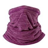 WTACTFUL Soft Fleece Neck Gaiter Warmer Face Mask Cover for Cold Weather Gear