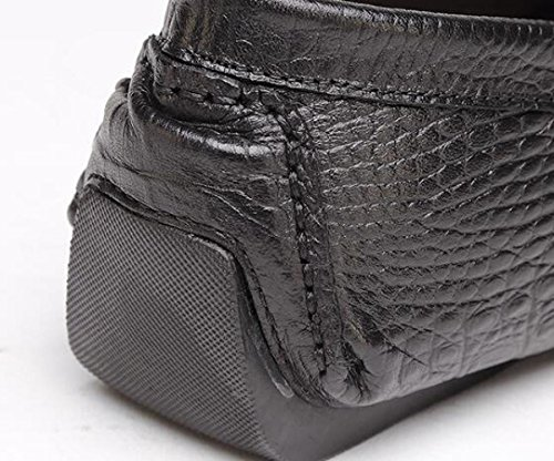 Scarpe da da Cuoio Piselli Uomo Uomo di WLFHM di Scarpe Scarpe Black Scarpe Guida Singole Casual Scarpe YXwSWqA