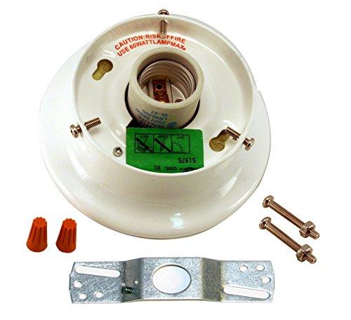 Runwireless White Glass Shade Holder Kit - 4