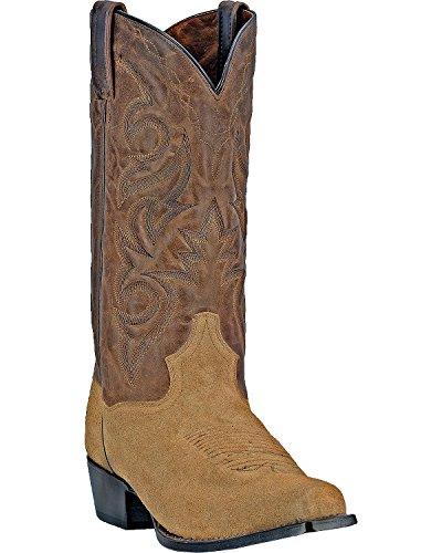 Dan Post Mens Gabriel Leather, Suede Western Boots Brown