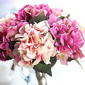 Artificial Flower Hydrangea - 1 Bunch Artificial Silk Flower Bouquet Wedding Party Home Decoration Floral Hydrangea Flores - Tulipan Lavanda Sala Mayoreo Shower Nardos Decoracion Orquideas R 17