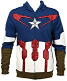 Extra Large Captain America Suit Up Fleece Hoody (XL)