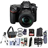 Nikon D500 DX-format DSLR Body with AF-S DX Nikkor 16-80mm f/2.8-4E ED VR Lens - Bundle with 32GB SDHC U3 Card, Camera Bag, Tripod, Remote Shutter Trigger, 72mm Filter kit, Software Pack, and More