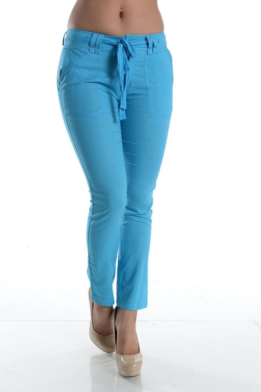Fashion Wildcat Women's Linen with Waist Ribbon Pants
