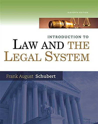 Introduction to Law and the Legal System cover