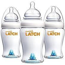 Munchkin Latch BPA-Free Baby Bottle, 8 Ounce, 3 Pack