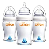 Munchkin Latch Anti-Colic Baby Bottle with Ultra Flexible Breast-like Nipple, BPA Free, 8 Ounce, 3 Pack
