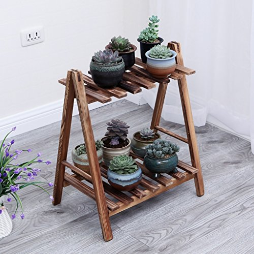 CSQ Pine Flower Stand, Indoor Outdoor Multilayer Plant Stand Shelf Bedroom Living Room Balcony Study 3 Sizes 2 Colors Flower Shelf by Flowers and friends