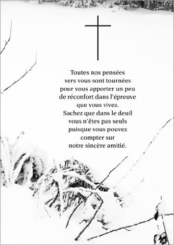 Lot De 5 Cartes De Voeux Carte De Deuil Avec Un Texte